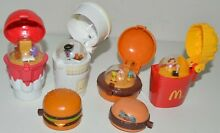 mcdonalds flip top spinners food wind up toys