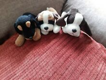 russ berrie 3 puppies beenie soft toy dogs