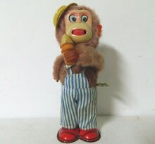tin toy i like ice cream monkey