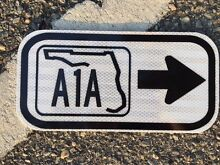 road sign florida a1a 12 x6 unused dot sign