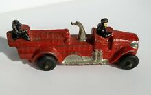 toy fire truck solid cast iron