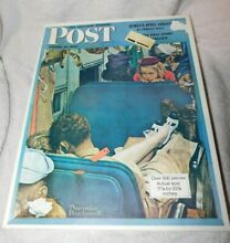 norman rockwell puzzle parker bros 17x22 sat evening post