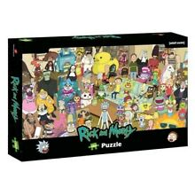 jigsaw puzzle ricky morty 1000pc puzzle new board