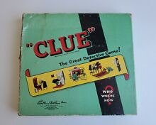 board game 1950 clue great detective