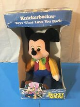 knickerbocker mickey mouse collectible soft doll