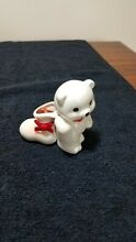 russ berrie white bear company candle holder