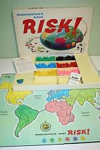 risk 1960s world strategy board game 100
