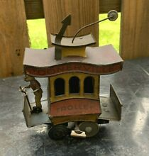 toonerville tin litho wind up trolley 1922