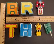transformers 4 alphabet letters alphabots other