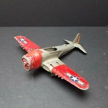 hubley grey red fighter bomber diecast