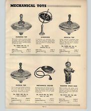 chein 1952 paper ad irwin mechanical toys