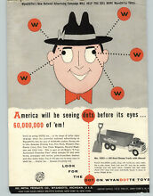 wyandotte 1955 paper ad all metal toy