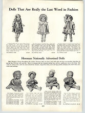 horsman 1931 paper ad 2 sided dolls baby