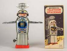 alps mechanical television spaceman tin