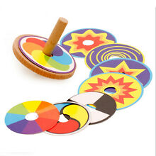 spin top wooden classic spinning top gyro
