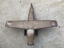 steelcraft old pressed steel airplane toy