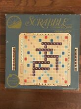 scrabble 1977 deluxe board game rotating