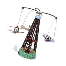 carousel boxed wind up flying airplane tin
