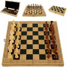 wooden 39 x 39 chess set wood board hand