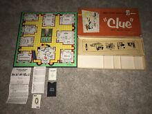 board game parker brothers 1949 1950 clue game