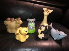 fisher price lot 6 little people zoo talkers