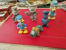 1960 6 plastic toy cartoon characters s