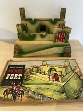 1960 1950s s wooden toy soldiers fort