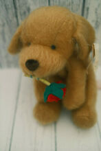russ berrie labrador puppy dog holding rose in