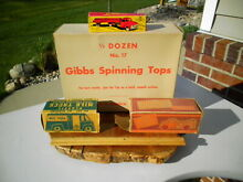 gibbs four toy boxes spinning tops hubley