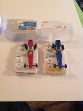 2 rare dragsters p 104 red and blue