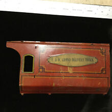 tin toy part grand delivery truck