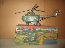 alps japan toy helicopter tin battery