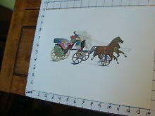 george brown 11 x 14 toy poster tin toy 2 horses