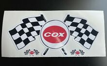 nitro car style cox race flag logo slot car