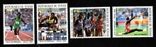 chad valley olympic chad 1988 set stamps mi