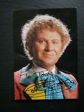 dr who old signed doctor who postcard