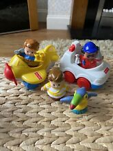 little people fisher price figures car airplane
