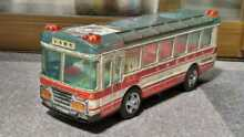 alps electronic tin toy sightseeing bus
