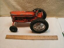 hubley toy tractor 1 16 scale wide front