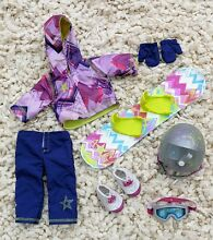 american girl doll star slopes outfit snowboard helmet
