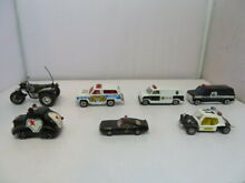 zylmex lot seven toy police motorcycles
