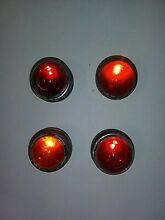road sign red glass cateye reflectors signal