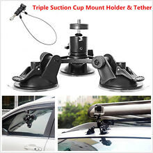tether car triple suction cup mount holder 12