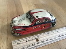 tin fire chief car 31 friction toy