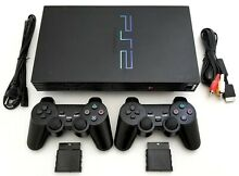 ps2 2 wireless controllers sony game