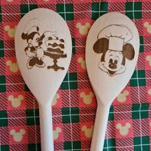 disney wooden spoon mickey minnie mouse