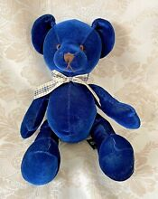 russ berrie picasso navy blue 8 sitting teddy