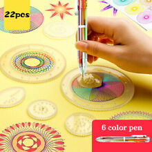 spirograph 22 pcs geometric ruler drafting