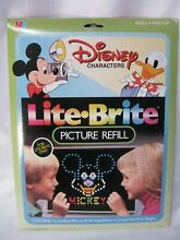 lite brite disney characters picture refill