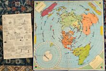 1950 board game globe trotters by